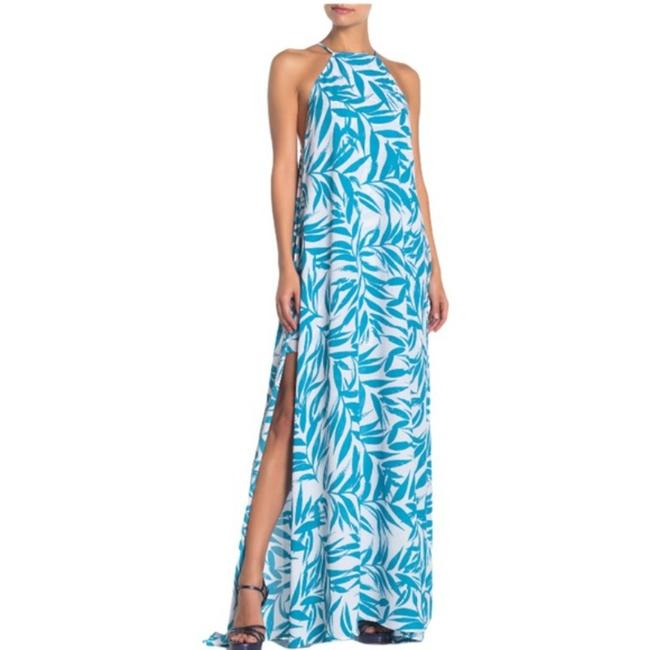 Item - White and Blue Bronte In Andaz Long Casual Maxi Dress Size 6 (S)