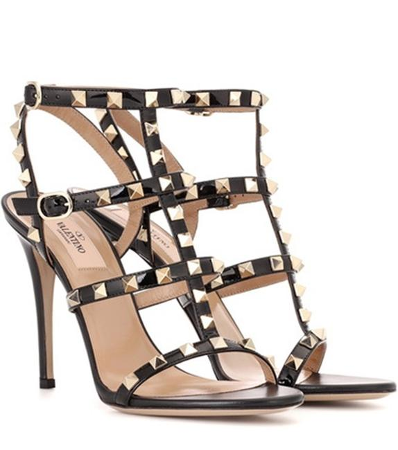 Item - Black Rockstud Calfskin Ankle Strap Sandals Size EU 38.5 (Approx. US 8.5) Regular (M, B)