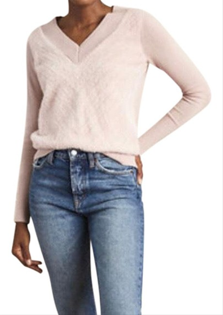 Item - Fuzzy V Neck Sweater
