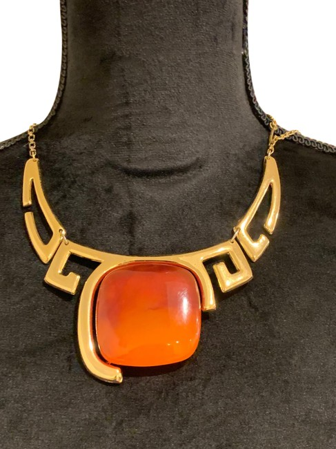 Lanvin Rust Orange Rare Vintage 1970's Necklace Lanvin Rust Orange Rare Vintage 1970's Necklace Image 1