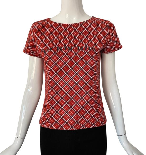 Item - Red Check Tee Shirt Size 4 (S)