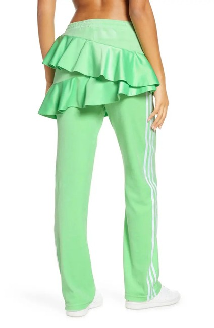 Item - Green Koo Ruffle Track Asymmetrical Color New Pants Size 4 (S, 27)