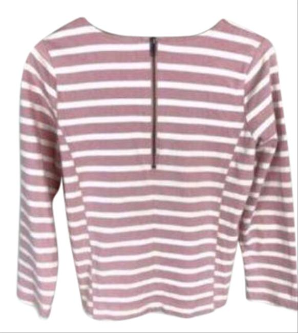 Item - Pink Cream Thick Fabric Long Sleeved Tee Shirt Size 4 (S)