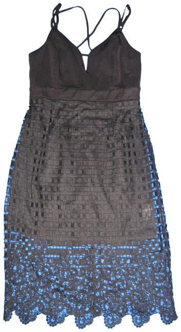 Item - Black Lace Overlay Mini Mid-length Night Out Dress Size 8 (M)