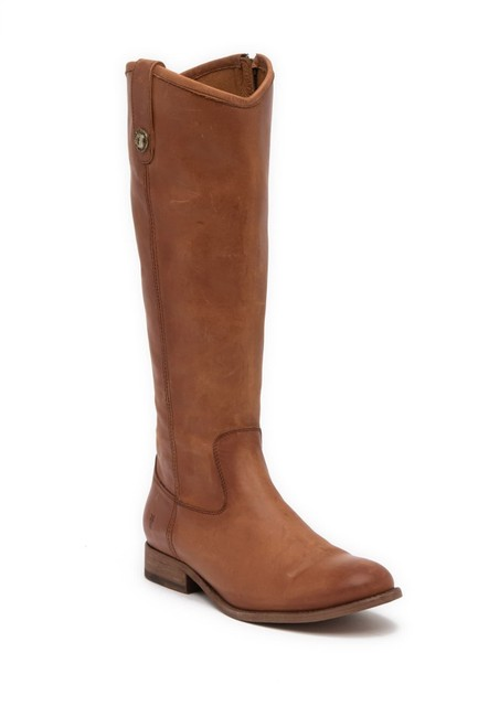 Item - Brown Melissa Button Inside Zip Leather Cognac/Brown Color New Boots/Booties Size US 7.5 Regular (M, B)