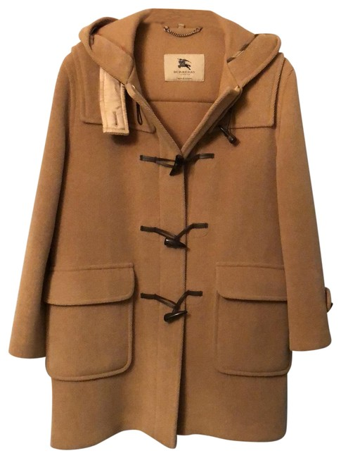 Item - Camel Wool Toggle Coat Size 14 (L)