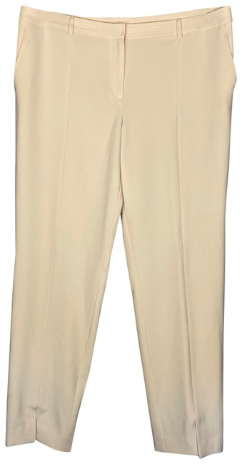 Item - Ivory Buttercream Straight Slit Leg Pants Size 14 (L, 34)