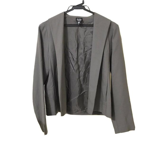 Item - Gray Wool Crop Jacket Open Front Pp Blazer Size Petite 4 (S)