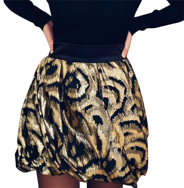 Item - Gold and Black Metallic Puff Skirt Size 6 (S, 28)