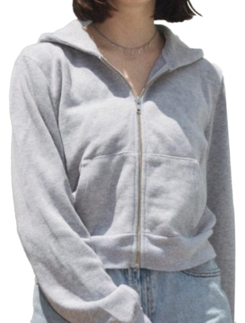 Item - Gray Cropped Casual Sweatshirt/Hoodie Size 4 (S)