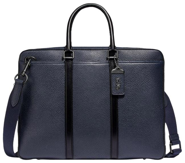 Item - Metropolitan 68469 Slim Brief Navy/Black Midnight Navy/Black Leather Messenger Bag