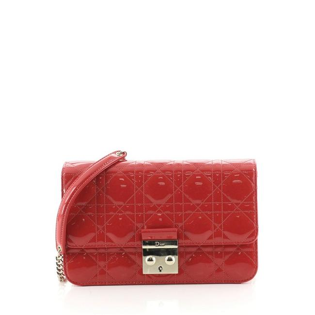 Item - Miss Promenade Pouch Cannage Quilt Large Red Patent Leather Shoulder Bag