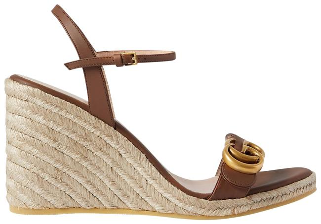 Item - Tan Aitana 85 Leather Espadrille Wedge Sandals Size EU 40.5 (Approx. US 10.5) Regular (M, B)