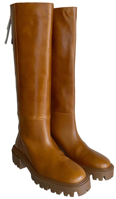 Item - Tan Lug Sole Leather Knee High Camel Boots/Booties Size US 8 Regular (M, B)
