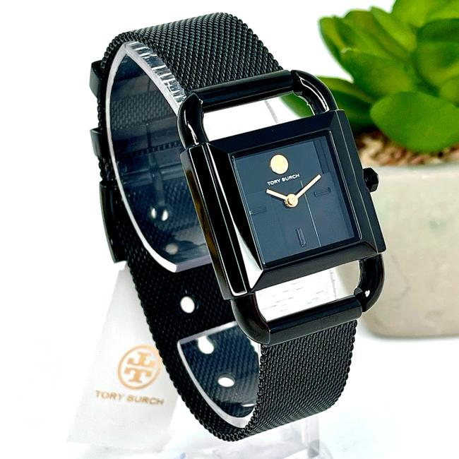 Item - Black Women's Phipps Black-tone Stainless Steel Mesh Bracelet Tbw7253 Watch