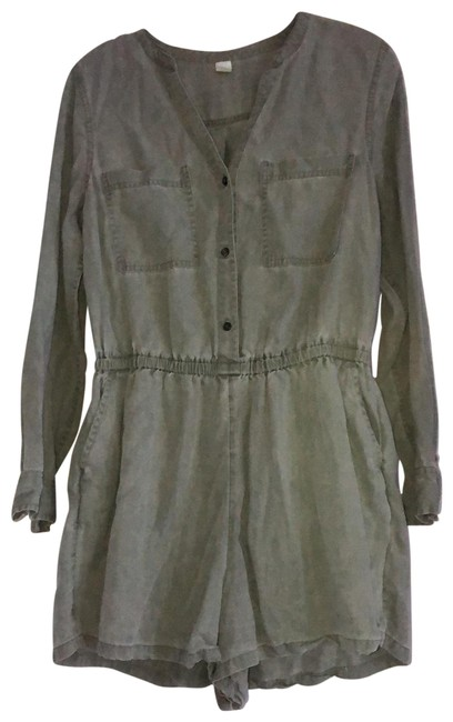 Item - Olive Green Soft Long Sleeve Romper/Jumpsuit