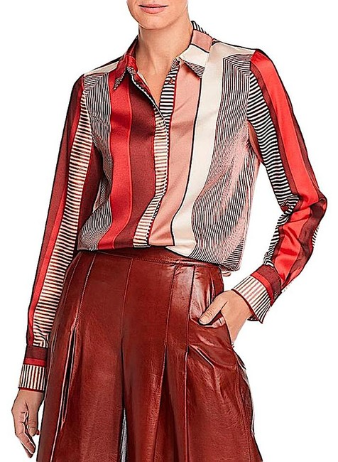 Lafayette 148 New York Carnelian Multi with Tag Eric Prism-print Blouse Button-down Top Size 8 (M) Lafayette 148 New York Carnelian Multi with Tag Eric Prism-print Blouse Button-down Top Size 8 (M) Image 2