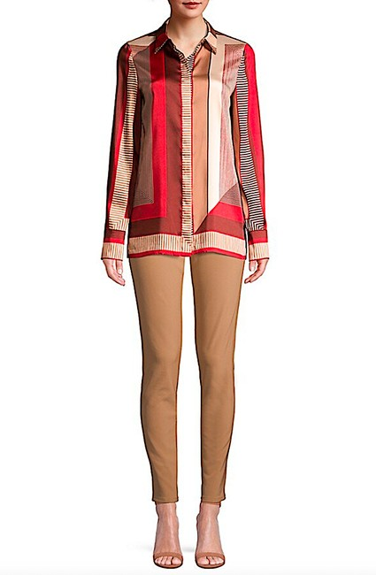 Lafayette 148 New York Carnelian Multi with Tag Eric Prism-print Blouse Button-down Top Size 8 (M) Lafayette 148 New York Carnelian Multi with Tag Eric Prism-print Blouse Button-down Top Size 8 (M) Image 3