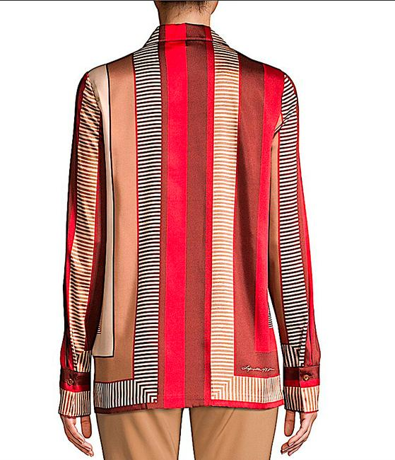 Lafayette 148 New York Carnelian Multi with Tag Eric Prism-print Blouse Button-down Top Size 8 (M) Lafayette 148 New York Carnelian Multi with Tag Eric Prism-print Blouse Button-down Top Size 8 (M) Image 6