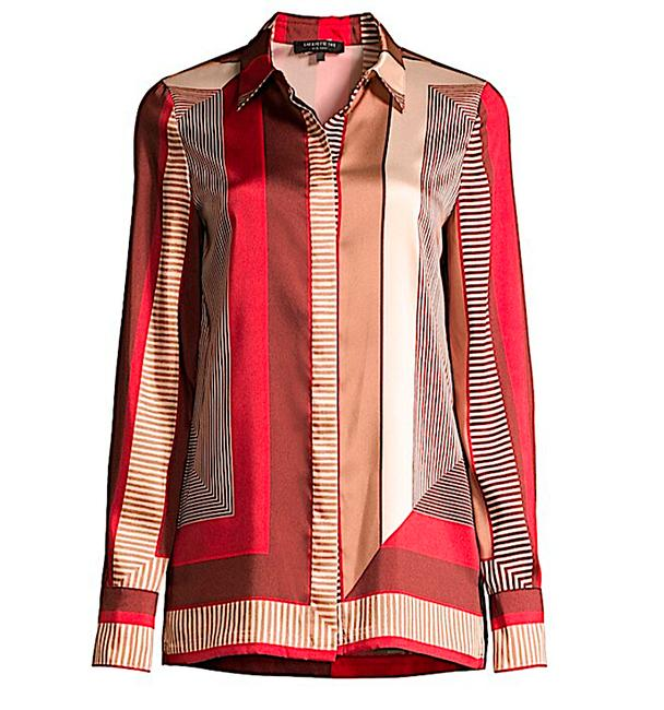 Lafayette 148 New York Carnelian Multi with Tag Eric Prism-print Blouse Button-down Top Size 8 (M) Lafayette 148 New York Carnelian Multi with Tag Eric Prism-print Blouse Button-down Top Size 8 (M) Image 8