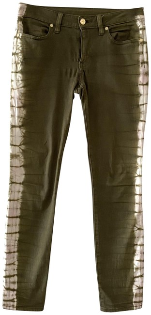 Item - Olive Green Tie Dye Ankle Skinny Jeans Size 27 (4, S)