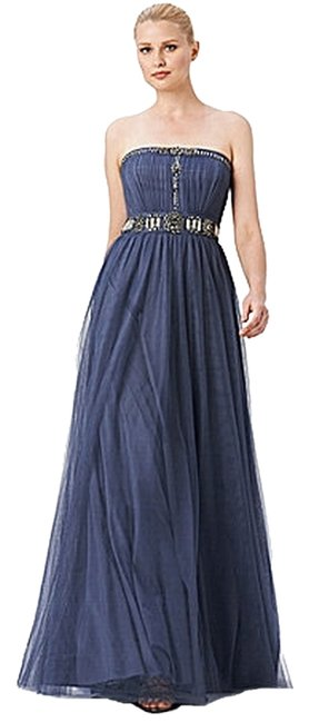 Preload https://item4.tradesy.com/images/adrianna-papell-gunmental-tulle-gown-long-formal-dress-size-10-m-2874823-0-0.jpg?width=400&height=650