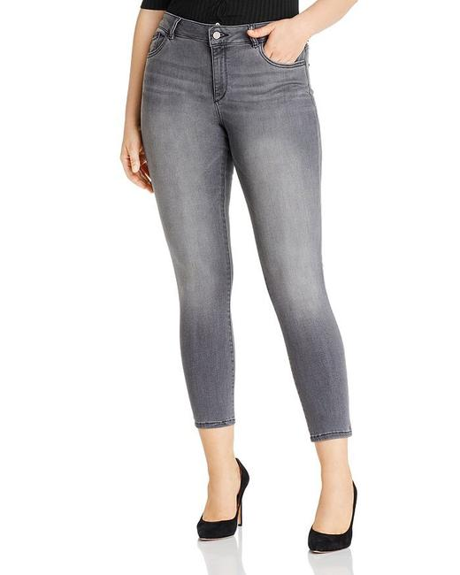 Item - Drizzle Gray Wash Medium Florence Ankle Crop Mid Rise Skinny Jeans Size 14 (L, 34)