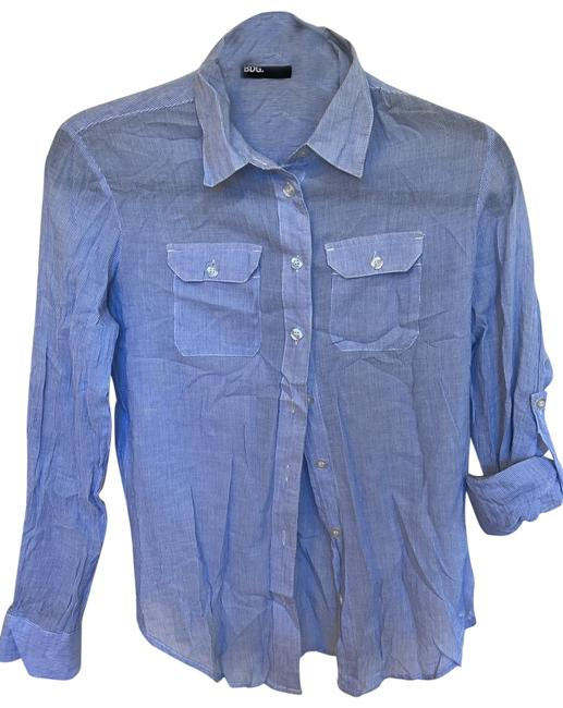 Item - Blue and White Stripe Button-down Top Size 2 (XS)
