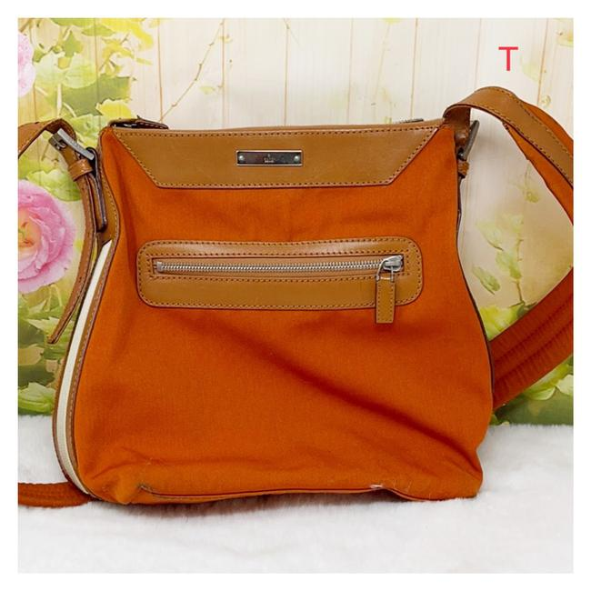 Item - Orange Canvas Cross Body Bag