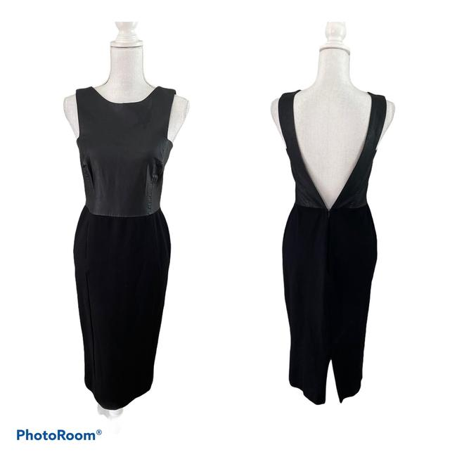 Item - Black Bodycon Open Mid-length Night Out Dress Size 8 (M)