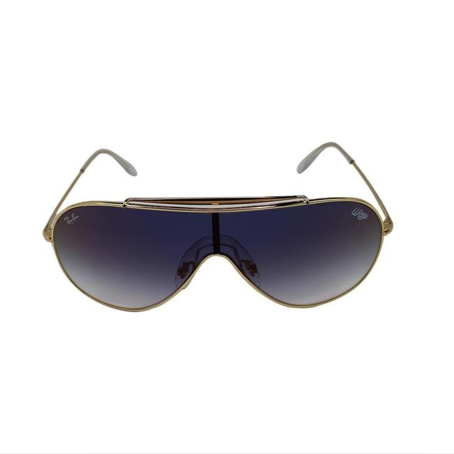 Item - Clear Blue Red Mirror Gradient Lens & Gold Frame Rb3597 001/X0 Wings Sunglasses