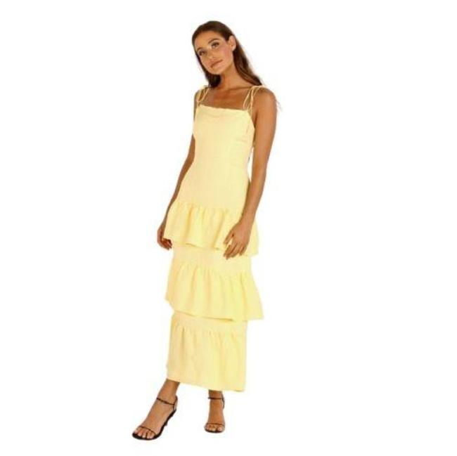 Item - Yellow Quinn Tiered Long Casual Maxi Dress Size 4 (S)