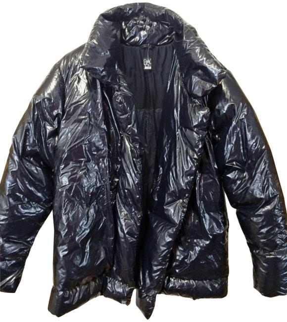 Item - Black Duck-down Filled Puffer Jacket Coat Size 12 (L)