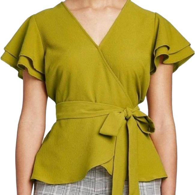 Item - Green/Yellow Blouse Size 2 (XS)