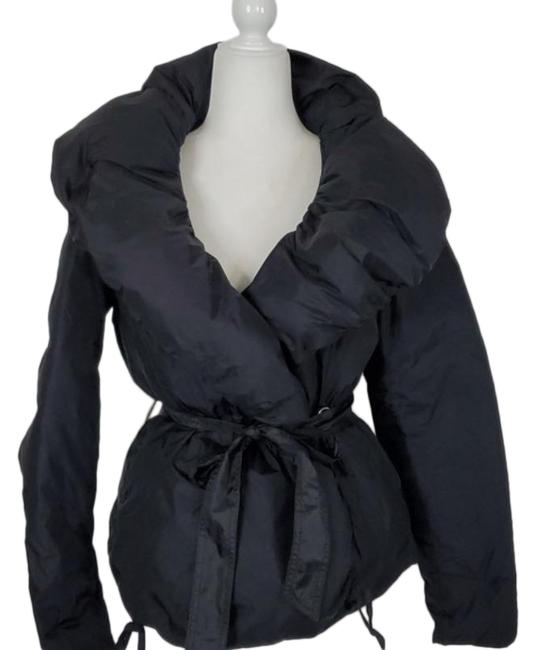 Item - Black Double Breasted with Tie Coat Size 8 (M)