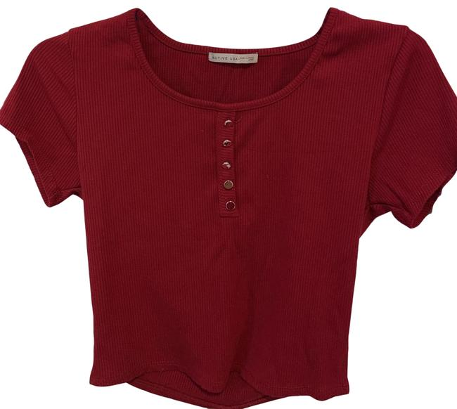 Item - Red-ish Cute Button-down Top Size 4 (S)
