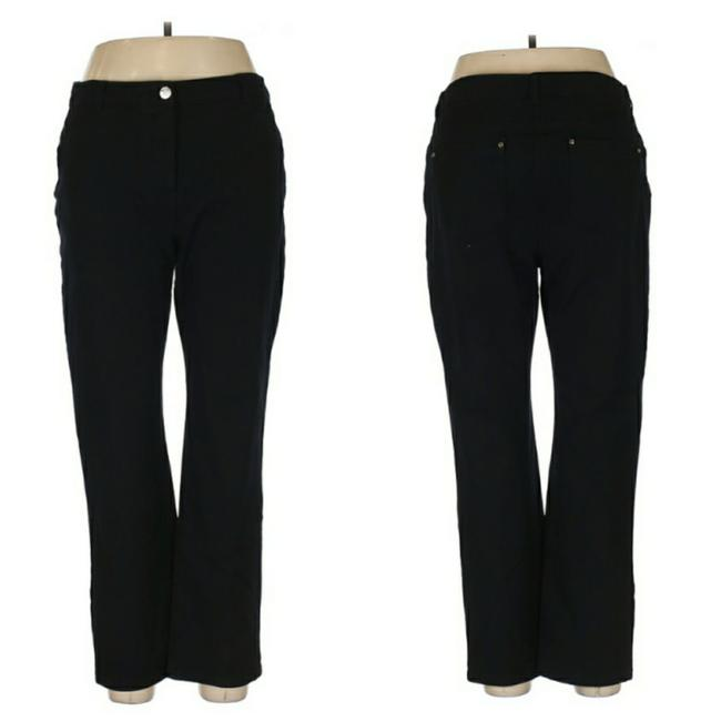 Item - Black Dark Rinse So Lifting High-rise 2 Short Straight Leg Jeans Size 34 (12, L)