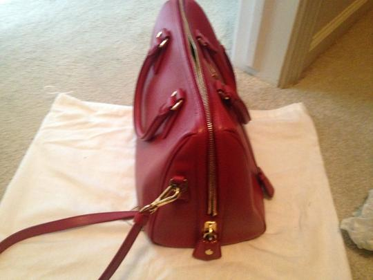 Prada Saffiano Leather Cross Satchel in red Image 6
