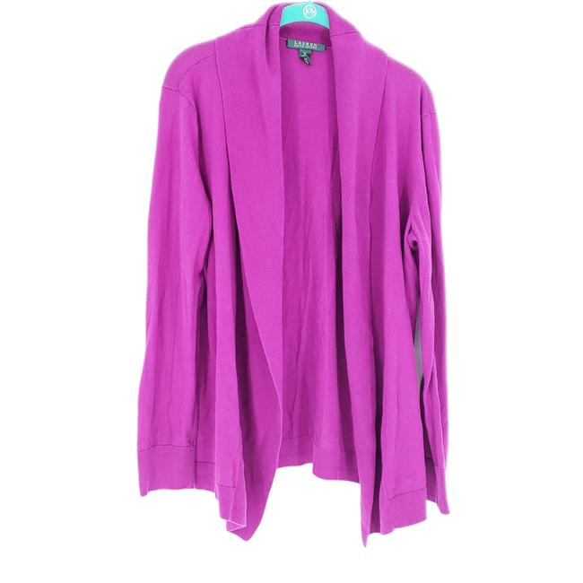 Item - Purple Open Front Large Cotton Knit Cardigan Size 16 (XL, Plus 0x)