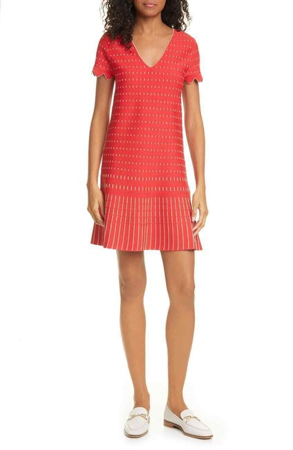 Item - Coral Maciiey Stitch Detail Knit Short Work/Office Dress Size 8 (M)
