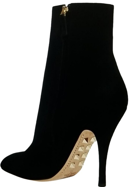 Item - Black The Rockstud Suede Ankle Gold Studs Boots/Booties Size EU 38 (Approx. US 8) Regular (M, B)