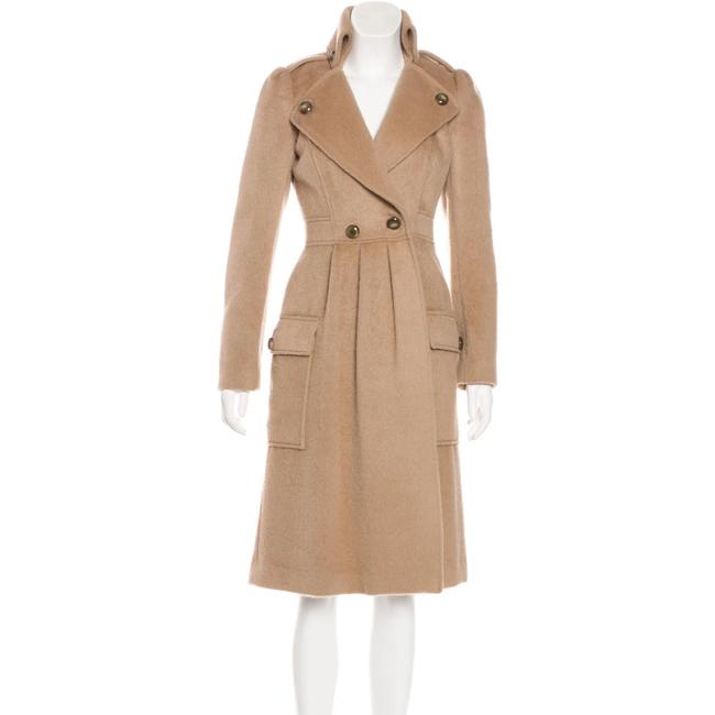 Item - Camel Tan Sabra Wool Alpaca-blend Coat Size 10 (M)