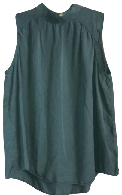 Item - Teal High Neckline Sleeveless Tunic Size 12 (L)