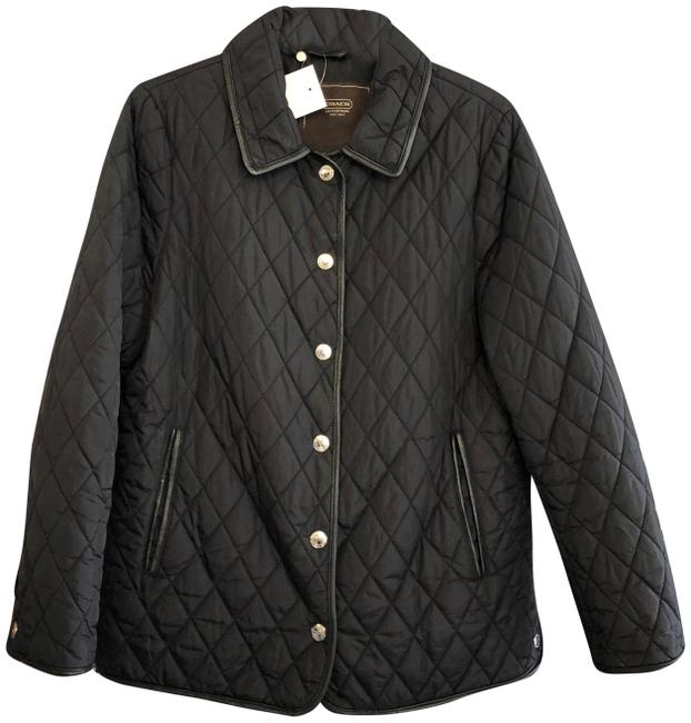 Item - Black Quilted Exterior Fully Lined Jacket Size 12 (L)