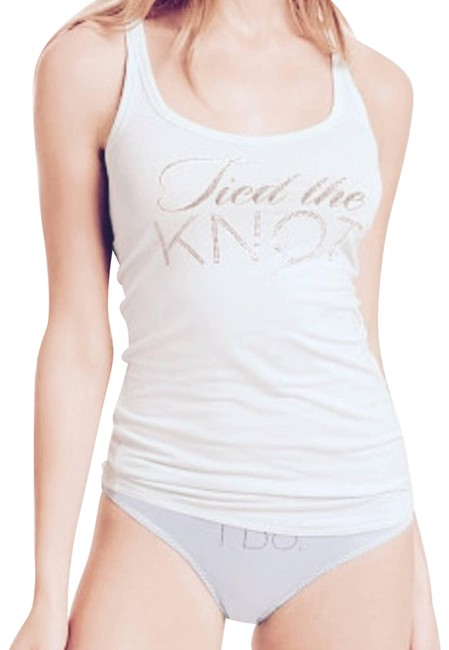 Item - White Tied The Knot Bride Small S Wedding Tank Top/Cami Size 4 (S)