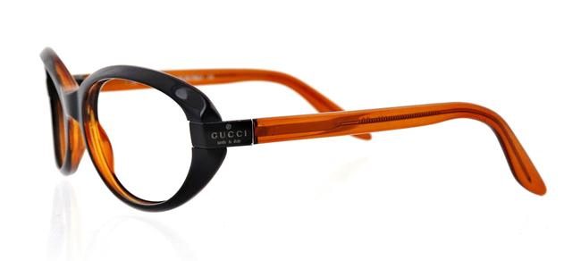 Item - Black and Amber Brown Gg2465/S 1xx 55mm Oval Frames Only No Lenses Sunglasses