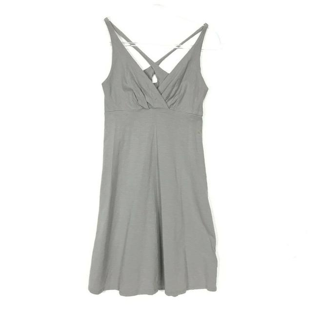 Item - Gray Jersey Amber Dawn Sleeveless Organic Cotton Knit Short Casual Dress Size 4 (S)
