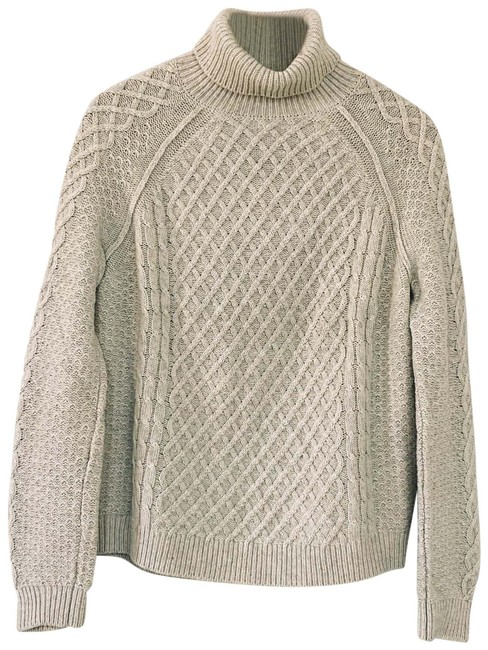Item - Cable Knit Turtleneck Oatmeal Sweater