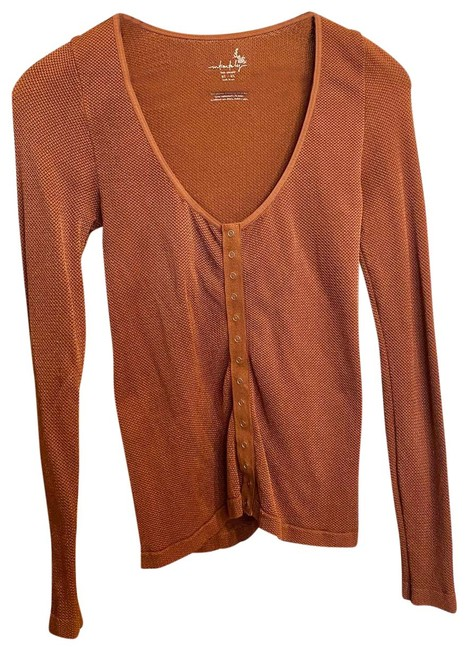 Item - Orange L Intimately Stretchy Long Sleeve Snaps | M/L Button-down Top Size 8 (M)
