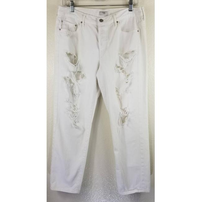 Item - White Loosey Distressed Skinny Jeans Size 29 (6, M)